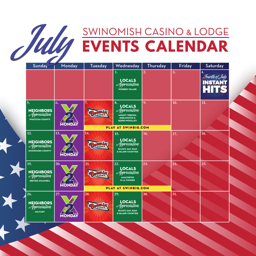 July Events Calendar