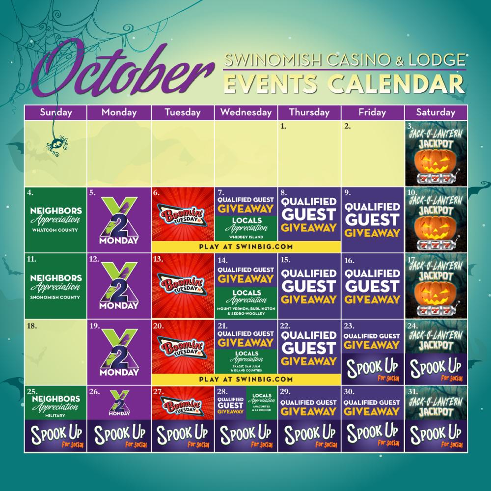 October Events Calendar