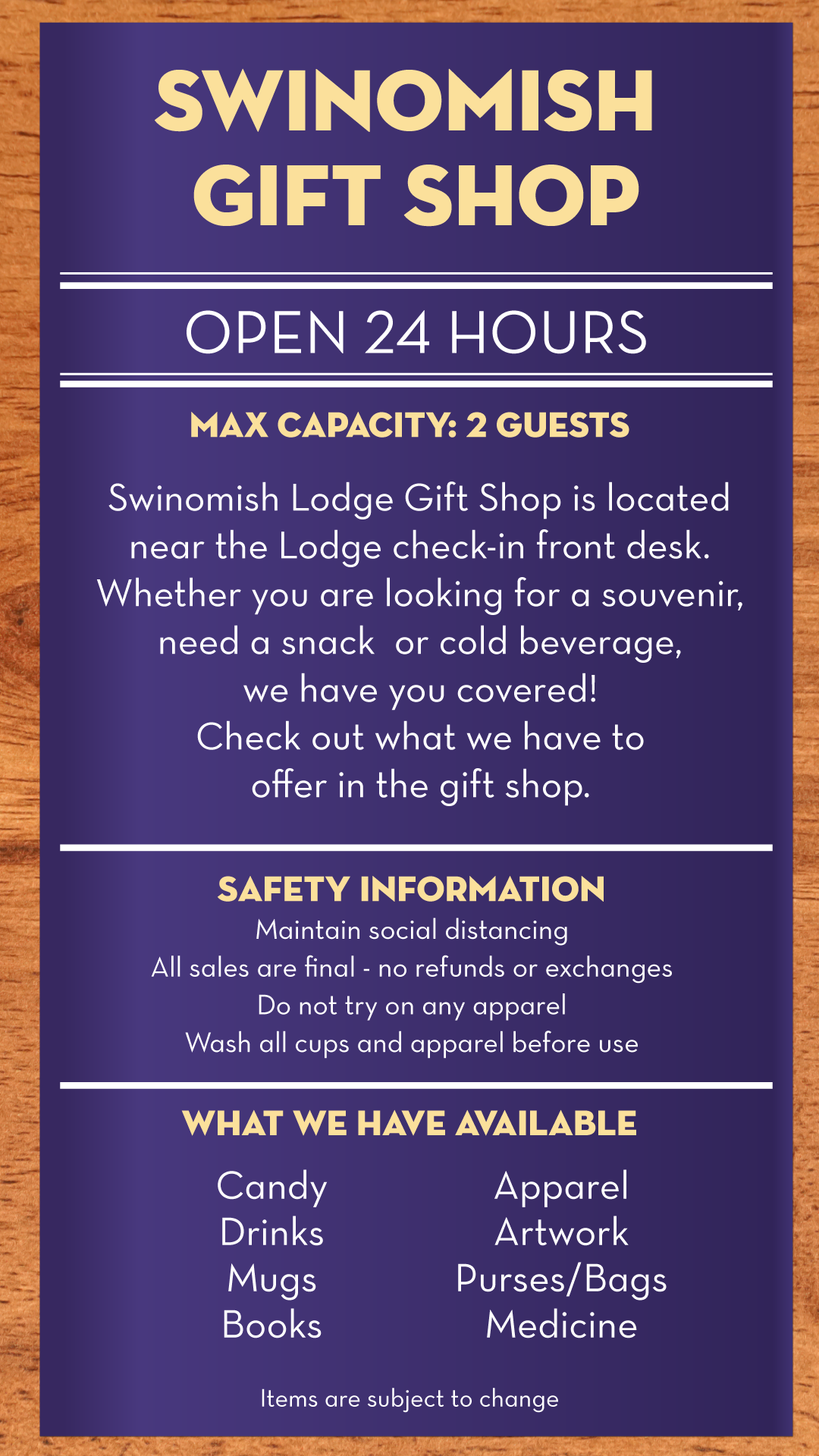 Swinomish Lodge Gift Shop