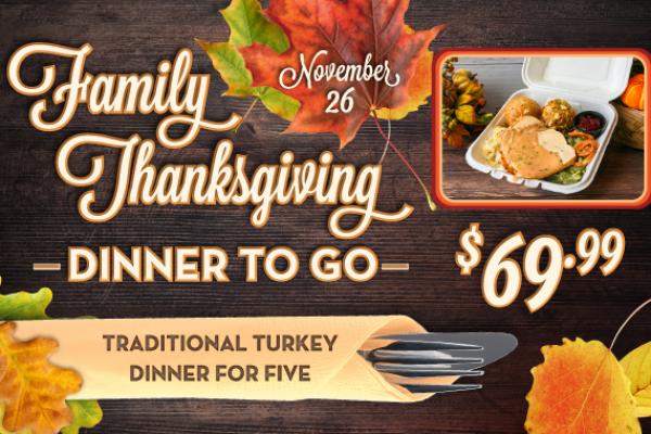 Family Thanksgiving Dinner To Go