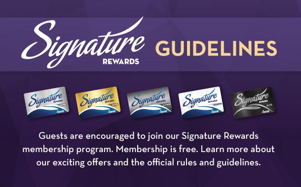 Signature Rewards Guidelines