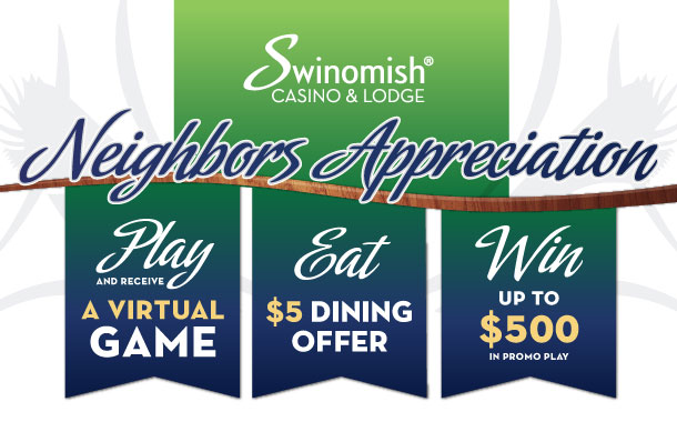 Neighbors Appreciation: $5 Dining, virtual game
