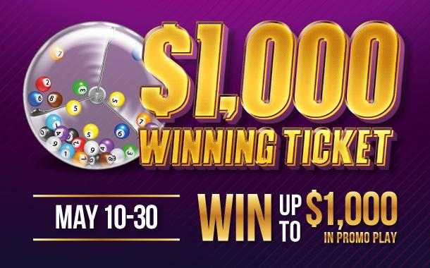 $1,000 Winning Ticket