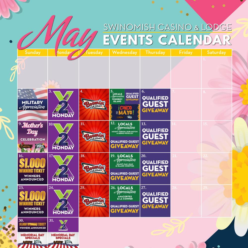 May Events Calendar